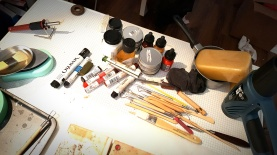 Encaustic 'studio'